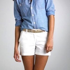J. Crew Broken In white cotton chino shorts sz 00